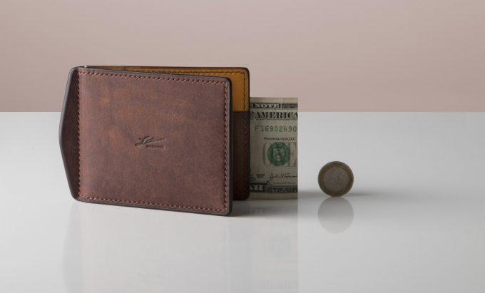 Lutece(リュテス)・小銭入れカード入れ付きマネークリップ