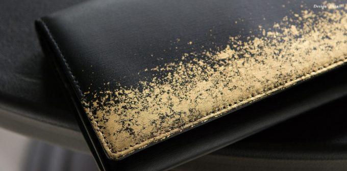 長財布フレイムダンスの金箔部分