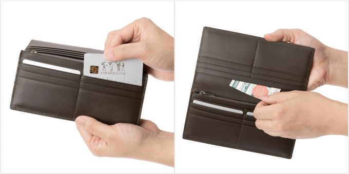 カードポケットとフリーポケット部