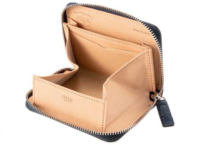 ルーガショルダー&フルベジタブルタンニンレザー内装ボックス型小銭入れ