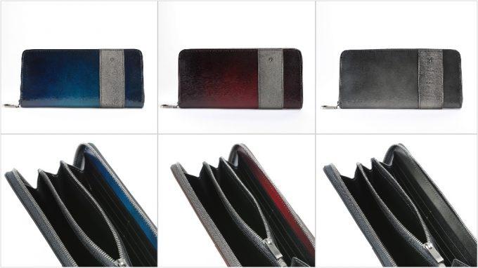 YCD114 ラウンドファスナーウォレットの各種カラー