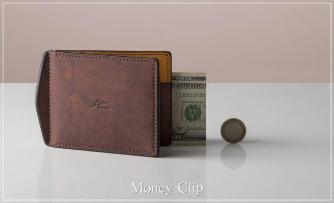 マネークリップ(小銭入れとカードポケット付き)