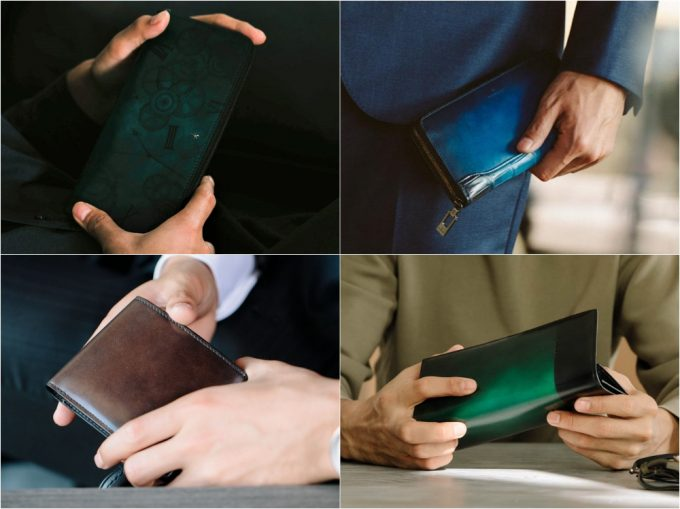 YUHAKUの財布の写真(抜粋)