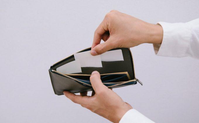 ASB124L字ファスナーウォレットの内装カードポケット