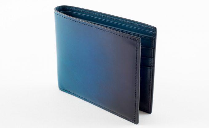 yuhaku・YVE130二つ折り財布(ブルー)