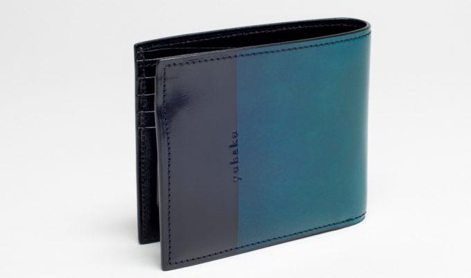 YLO130二つ折り財布(ブルーカラー)
