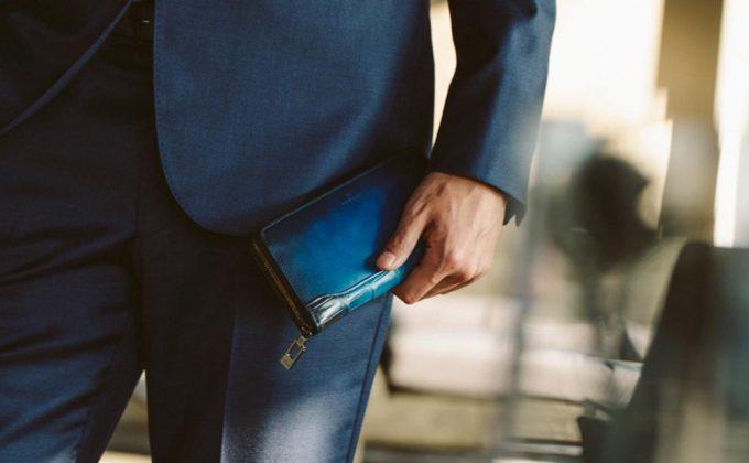 ユハクのちょいワル財布「クロコダイルコンビ」の財布