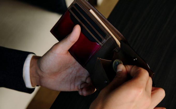 YFC131二つ折り財布の収納ポケット