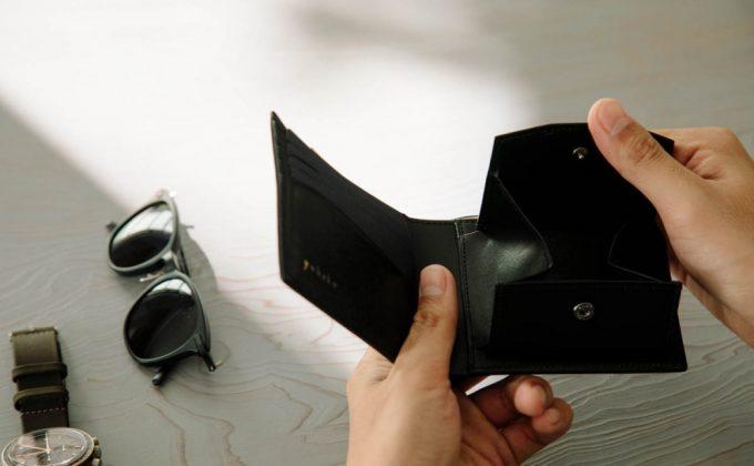 YLO130二つ折り財布のBOX型小銭入れ