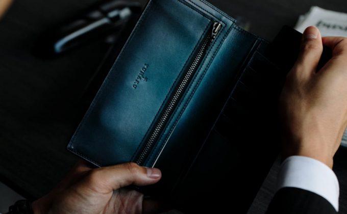 YVE110長財布の内装のyuhakuのロゴ