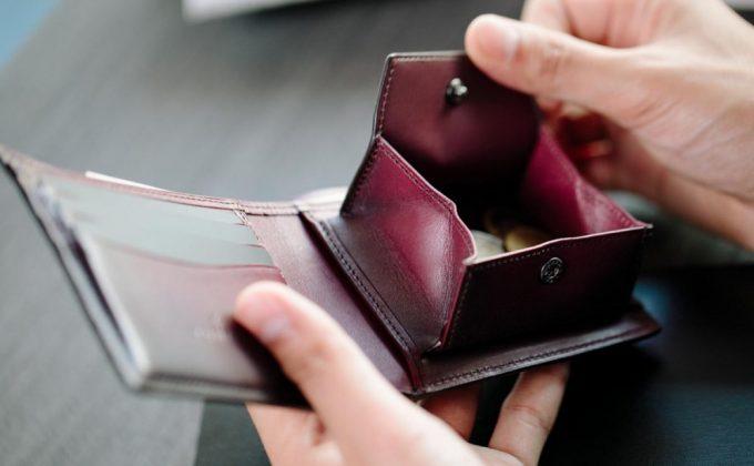 YVE130二つ折り財布のボックス型小銭入れ