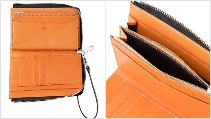 ミドル財布モバイルウォレットの収納ポケット
