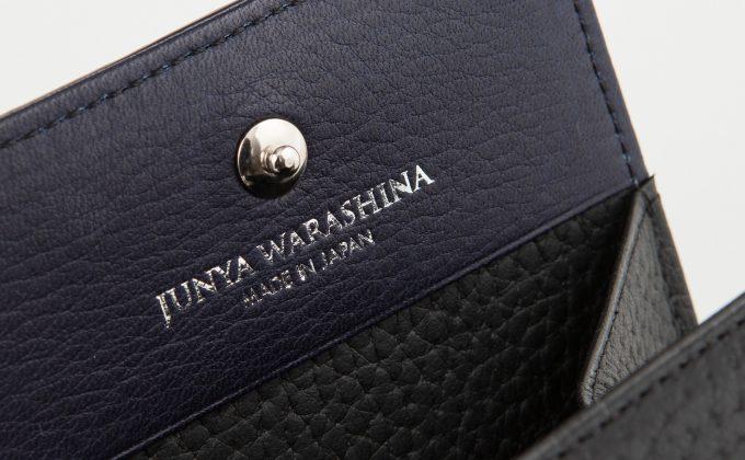 小銭入れ内装のJUNYA WARASHINAのロゴ