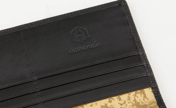 camonde(カモンド)の型押しロゴ