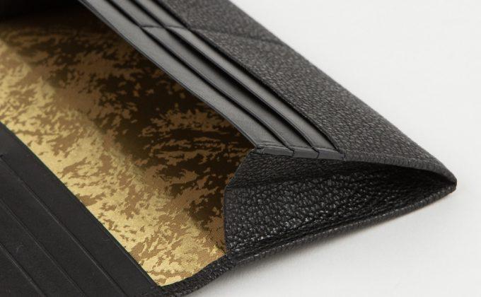 長財布(黒桟革)の札ポケット