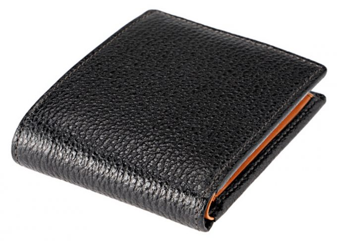 CYPRIS二つ折り財布カシューレザー