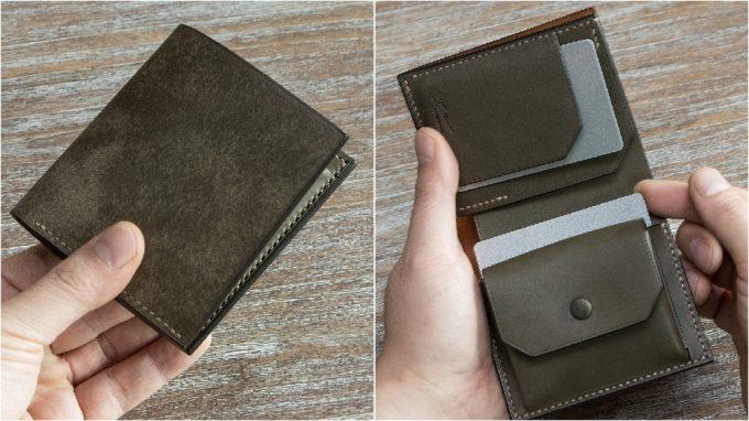 コンパクトなサイズと内装のカードポケット