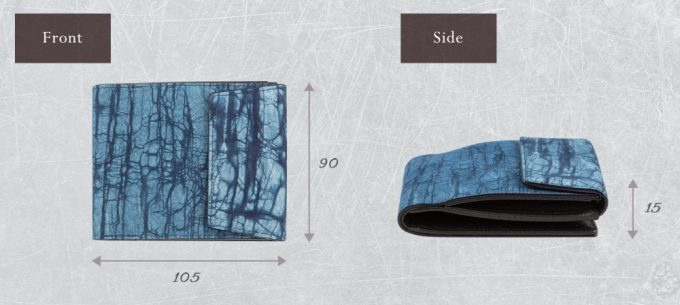 コンパクトなスクモレザーロウ割れ二つ折り財布