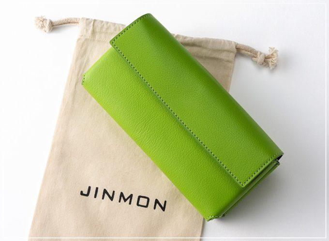 JINMON(ジンモン)のICHOシリーズのクラッチウォレット