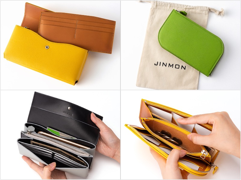 JINMON(ジンモン)のICHOシリーズの各種財布