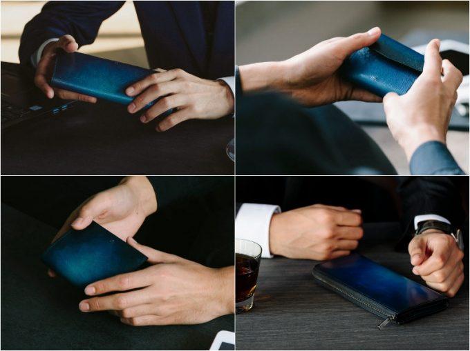 yuhaku・手染め染色の財布各種