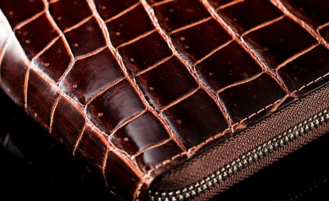 外装のフランス産の最高級クロコダイルレザー