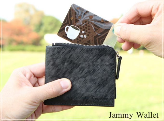 ジャミーウォレット・L字ファスナー本革二つ折り財布