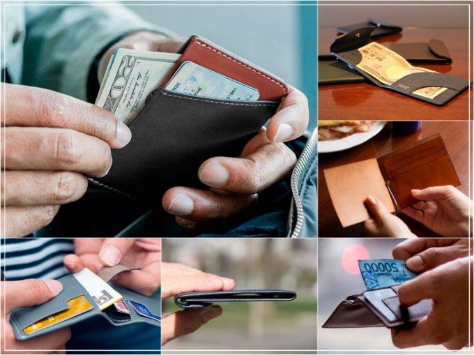 カードとお札だけ入る財布!コンパクトでキャッシュレス社会に最適!