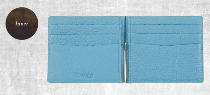 内装のカードポケットとマネークリップ