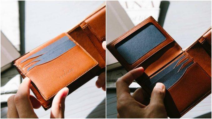 YPF136二つ折り財布の豊富なカード収納