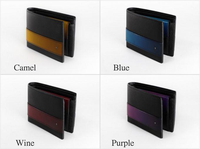 YAL132二つ折り財布のカラーバリエーション