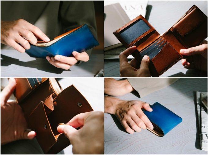 YPF136二つ折り財布の各部