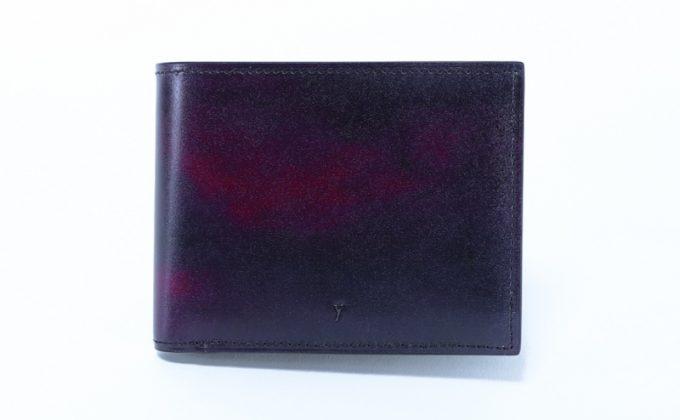 YPM137二つ折り財布のワインカラー
