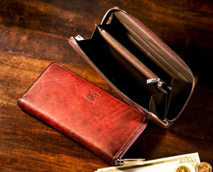 COCOMEISTER・ベテルギウスシリーズの革財布(スコーチング)