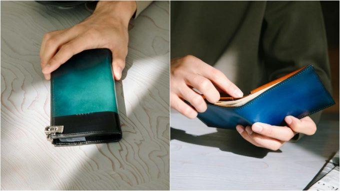 yuhakuの長財布と二つ折り財布
