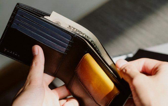 YAL132二つ折り財布の内装
