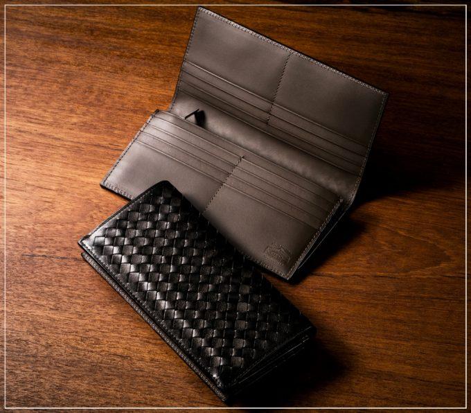 ポンテマットーネシリーズの革財布