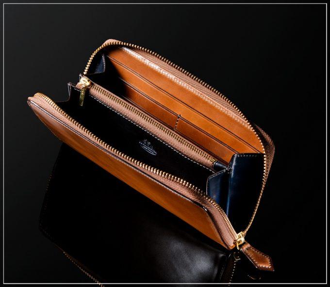シェルコードバンシリーズの革財布