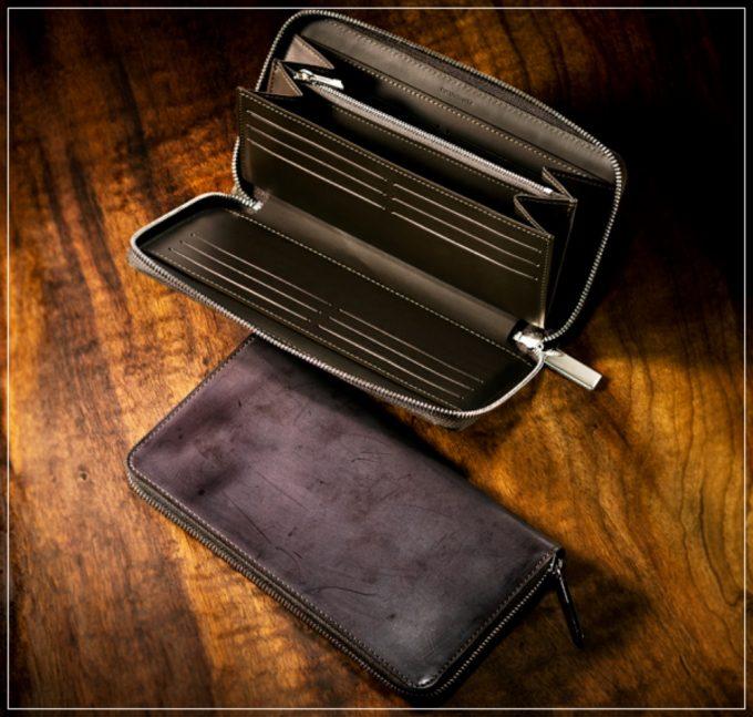 コードバンクラシックシリーズの革財布