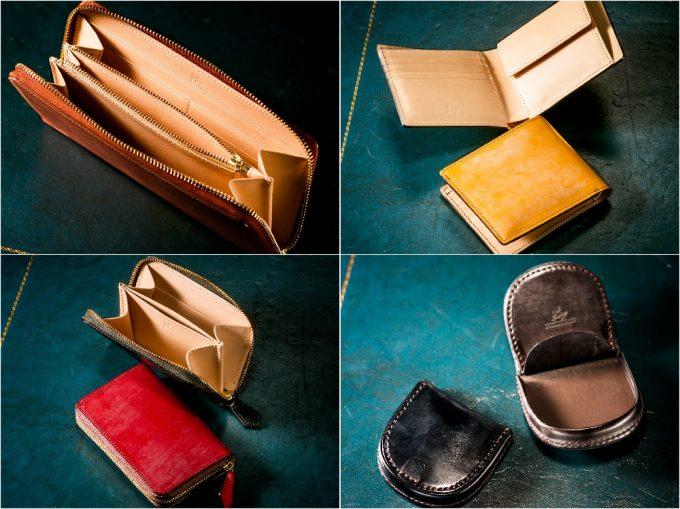 ブライドルシリーズの革財布(抜粋)