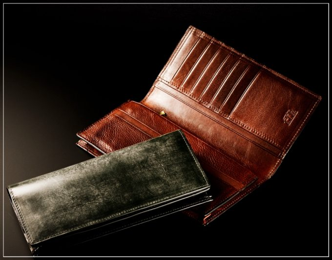ロンドンブライドルシリーズの革財布