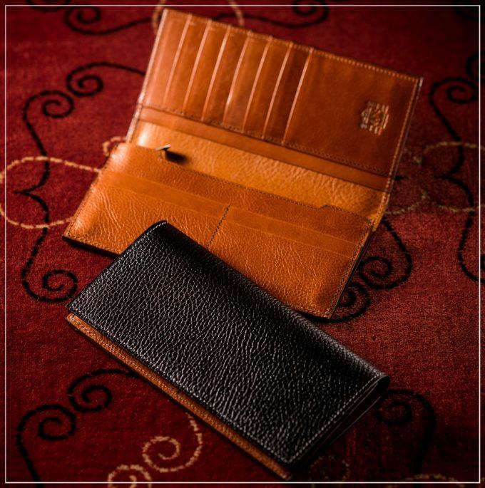 ロッソピエトラシリーズの革財布