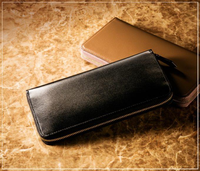 クリスペルカーフシリーズの革財布