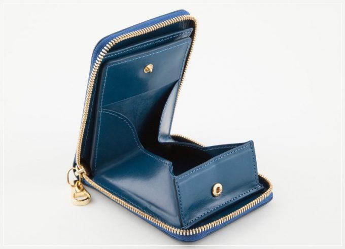 チマブエグレースフル・ブライドルラウンドジップ二つ折り財布(ボックス型小銭入れ)