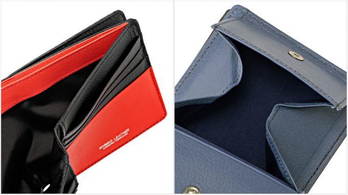 ノイインテレッセ・二つ折り財布の各部
