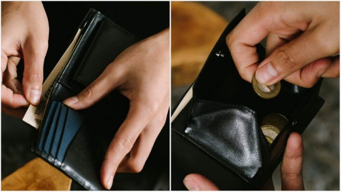 yuhaku・YLW130二つ折り財布の各部