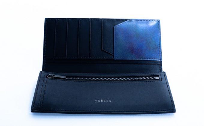 yuhakuの文字ロゴが刻印されたプYPM110長財布の内装