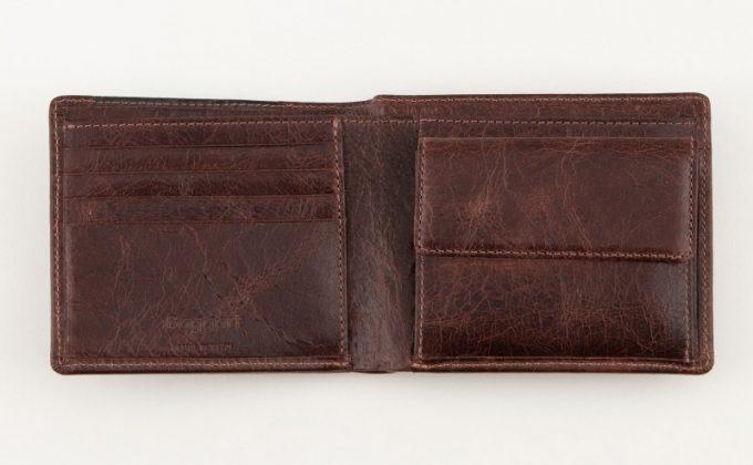 Baggart(バガート)二つ折り財布の内装