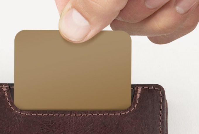 外装のカードポケット