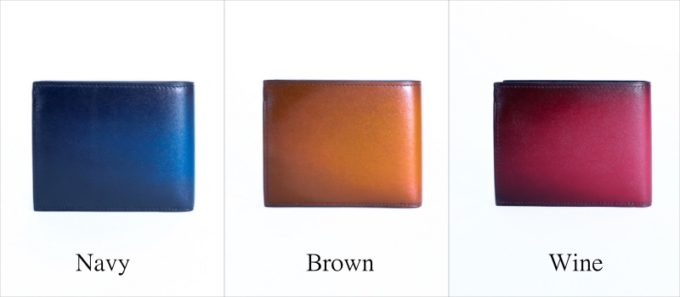 YHK003二つ折り財布カラーバリエーション